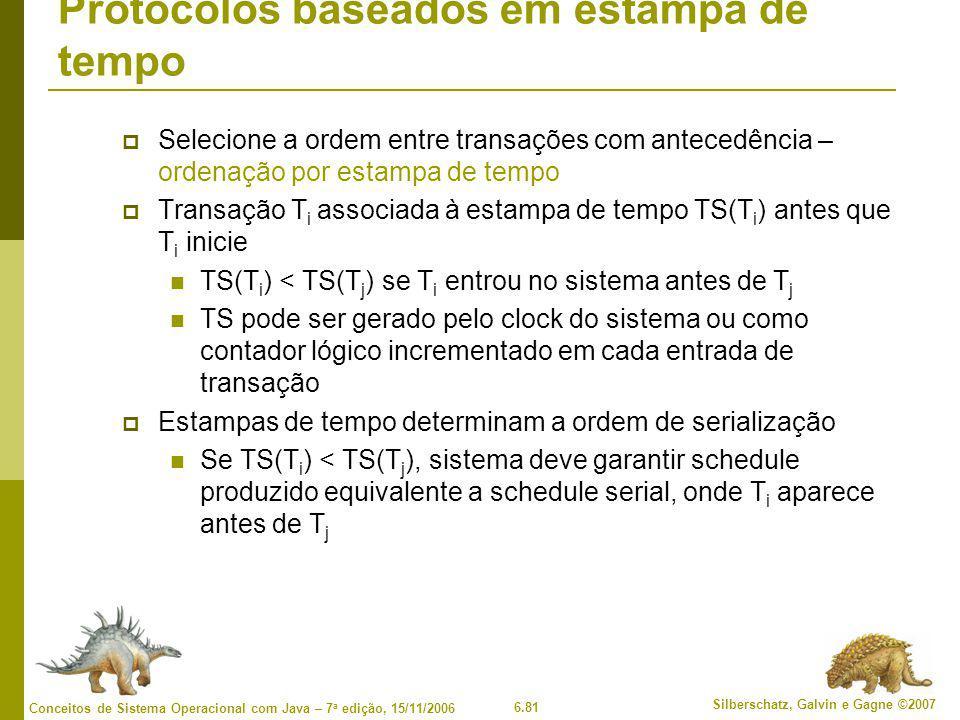 Protocolos baseados em estampa de tempo