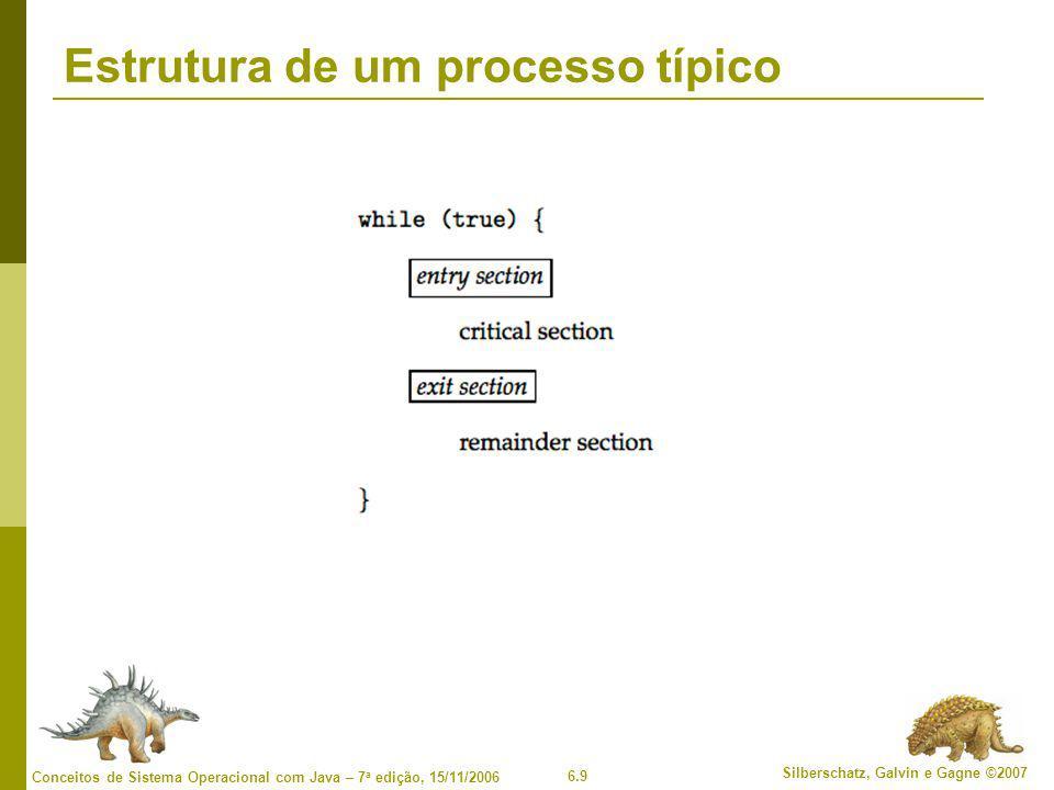 Estrutura de um processo típico