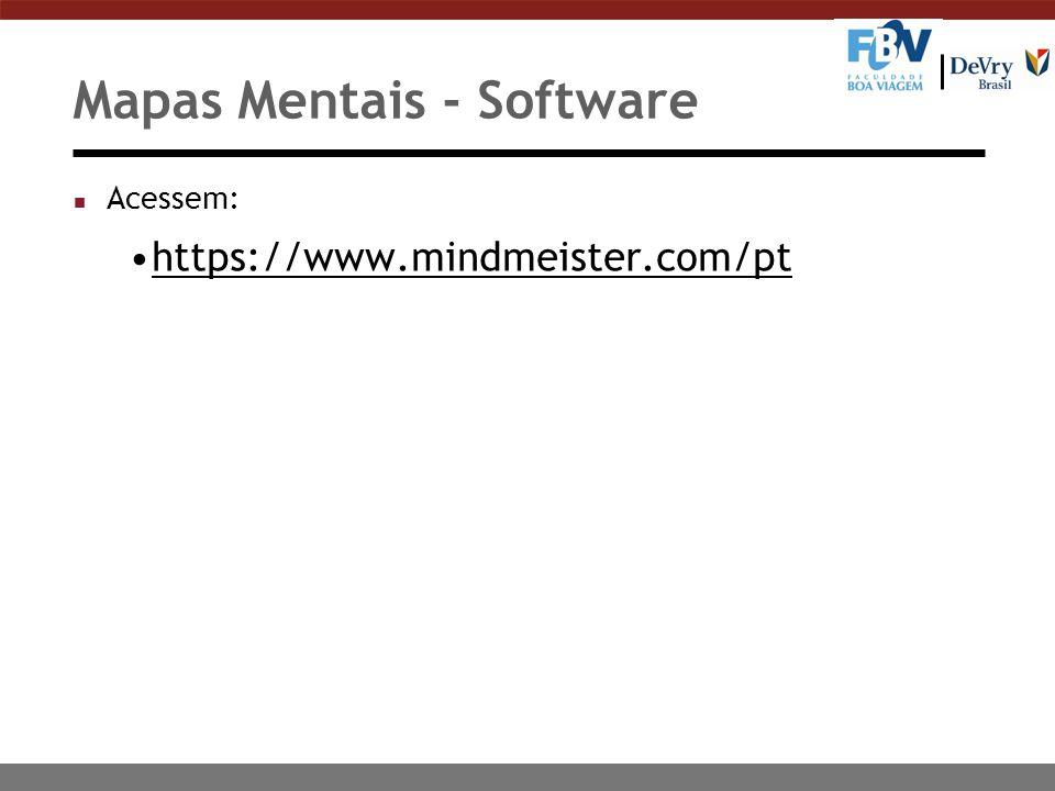 Mapas Mentais - Software
