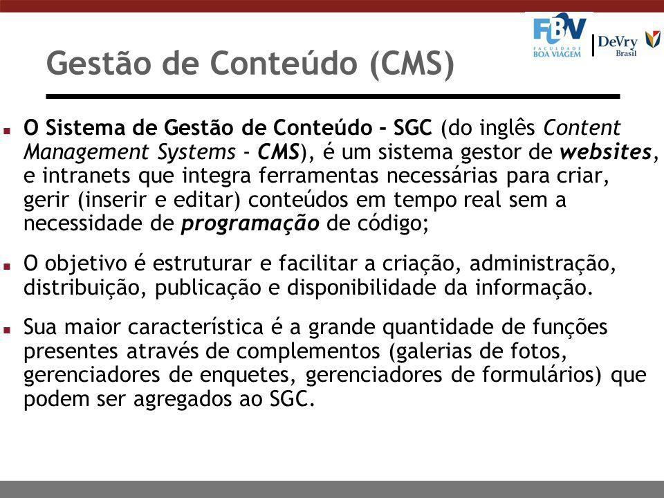 Gestão de Conteúdo (CMS)