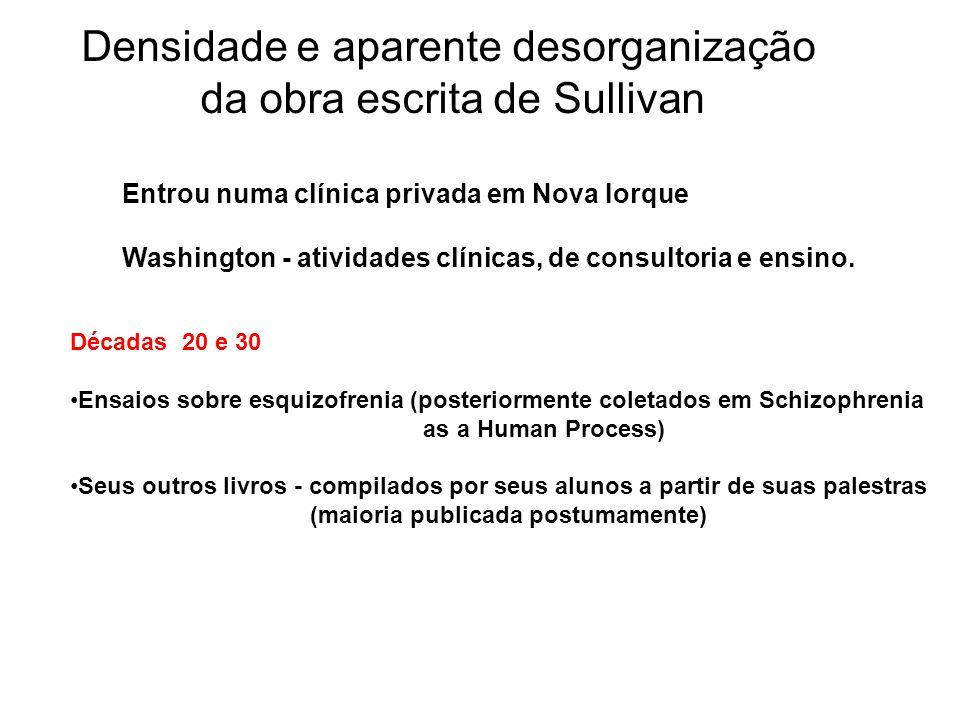 Densidade e aparente desorganização da obra escrita de Sullivan