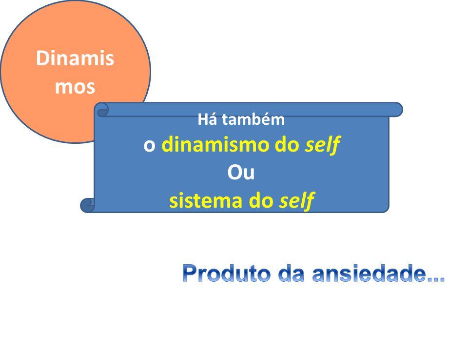 Dinamismos o dinamismo do self Ou sistema do self