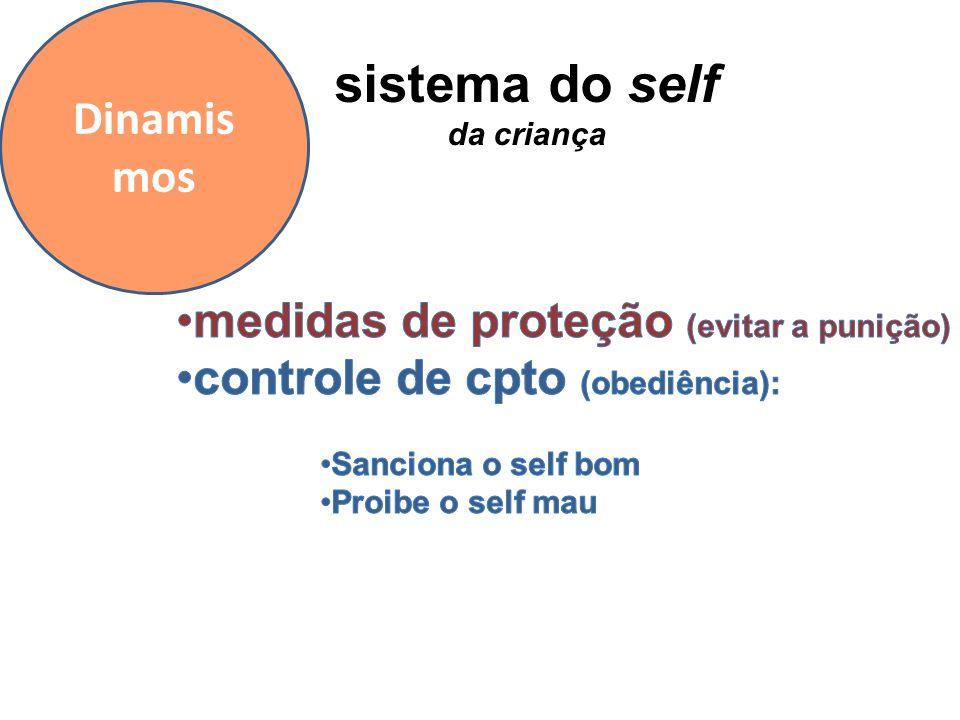 sistema do self Dinamismos medidas de proteção (evitar a punição)