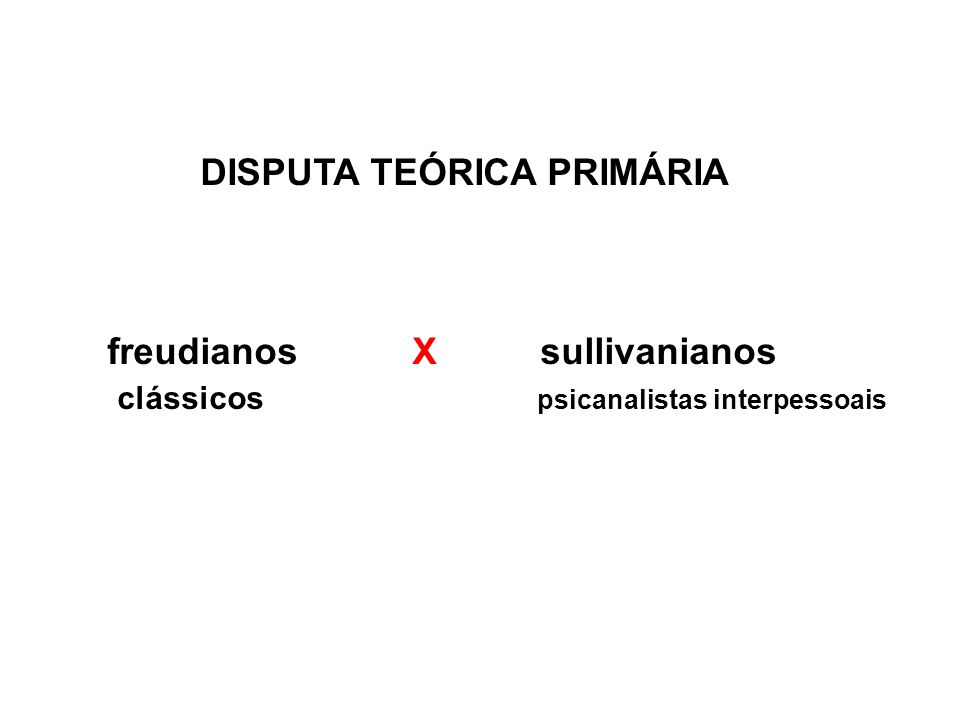 DISPUTA TEÓRICA PRIMÁRIA