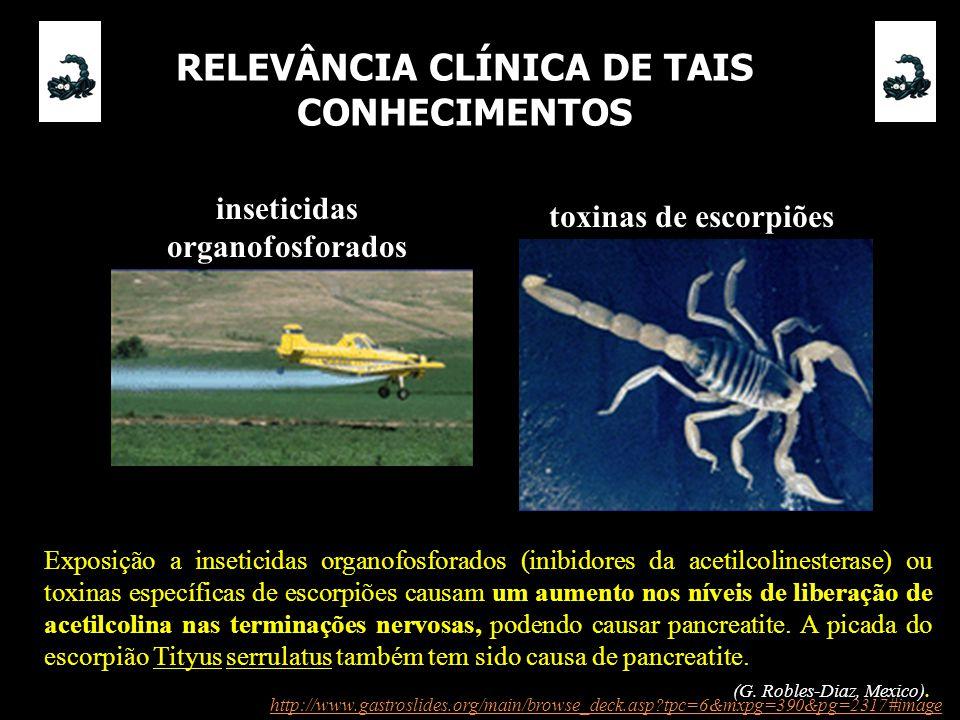 RELEVÂNCIA CLÍNICA DE TAIS CONHECIMENTOS inseticidas organofosforados
