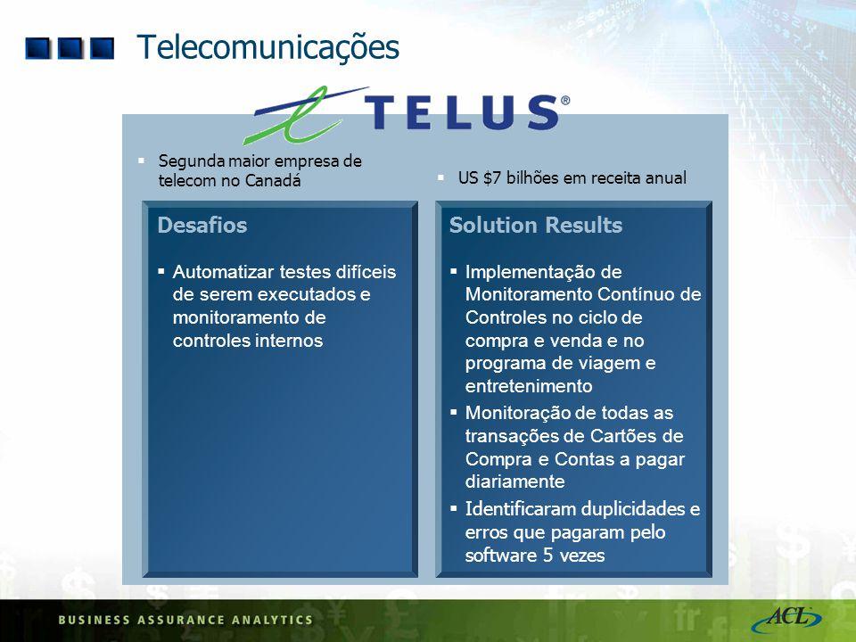 Telecomunicações Desafios Solution Results