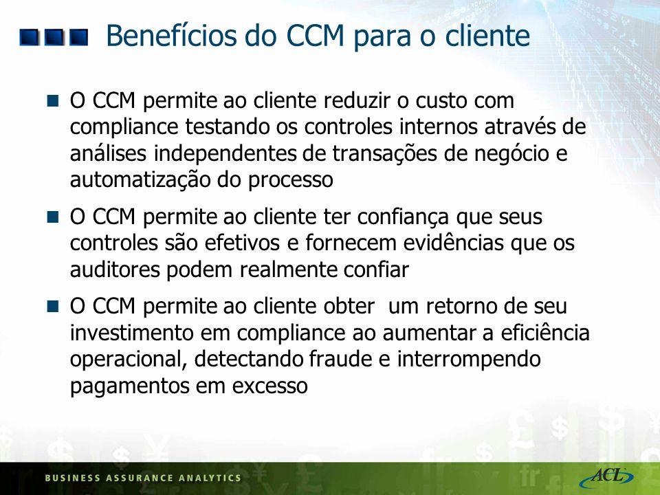 Benefícios do CCM para o cliente