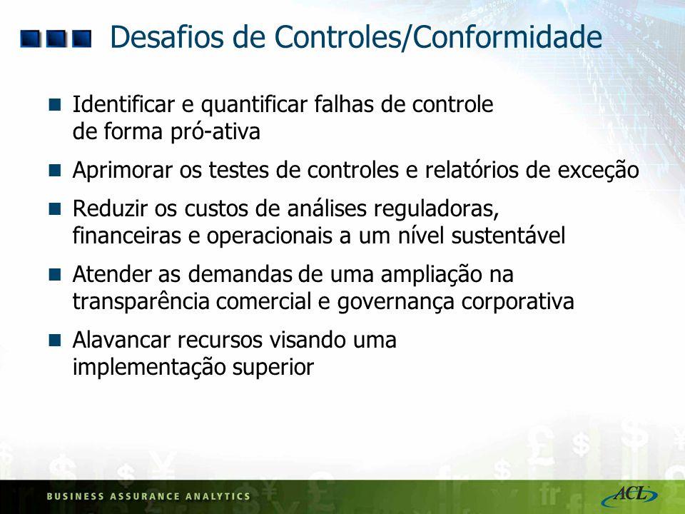 Desafios de Controles/Conformidade