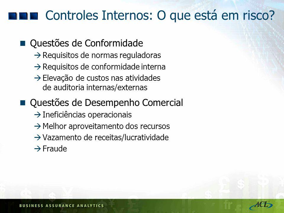 Controles Internos: O que está em risco