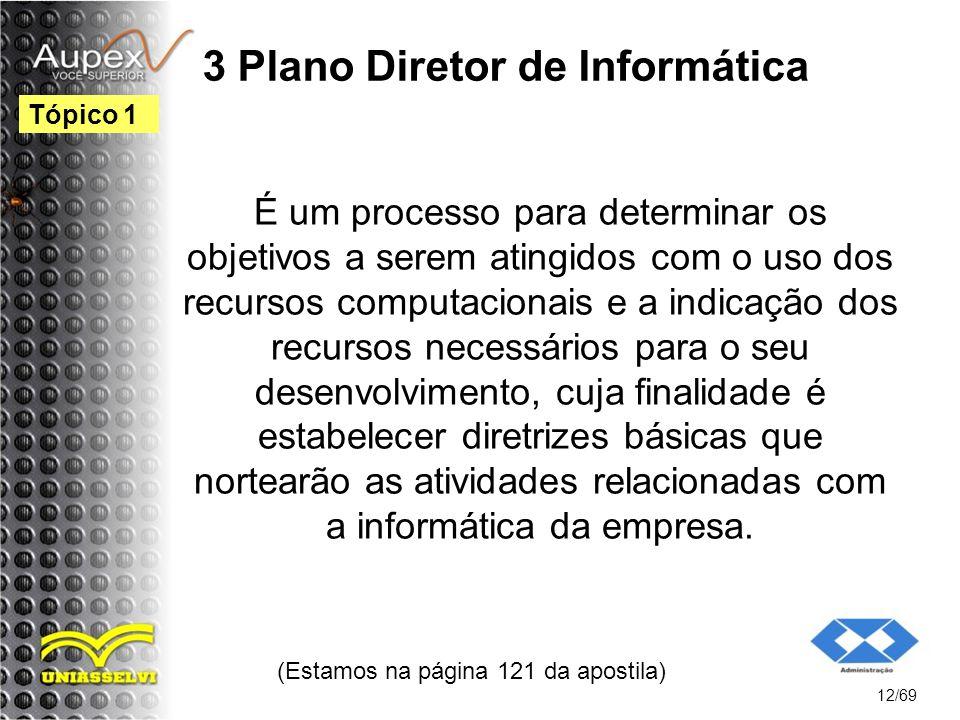 3 Plano Diretor de Informática