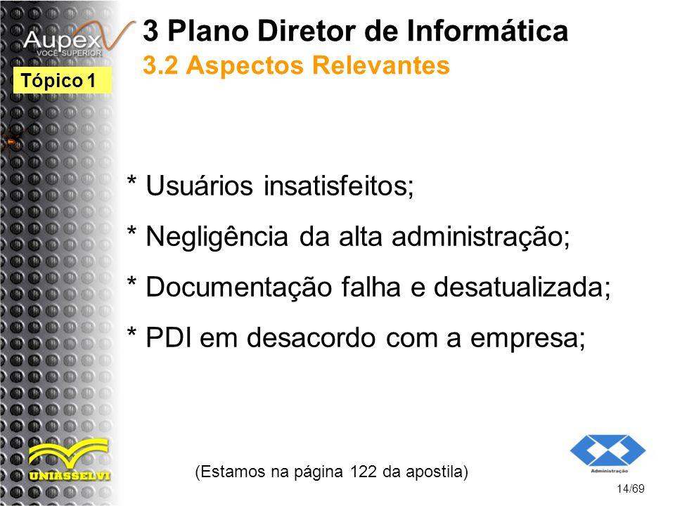 3 Plano Diretor de Informática 3.2 Aspectos Relevantes