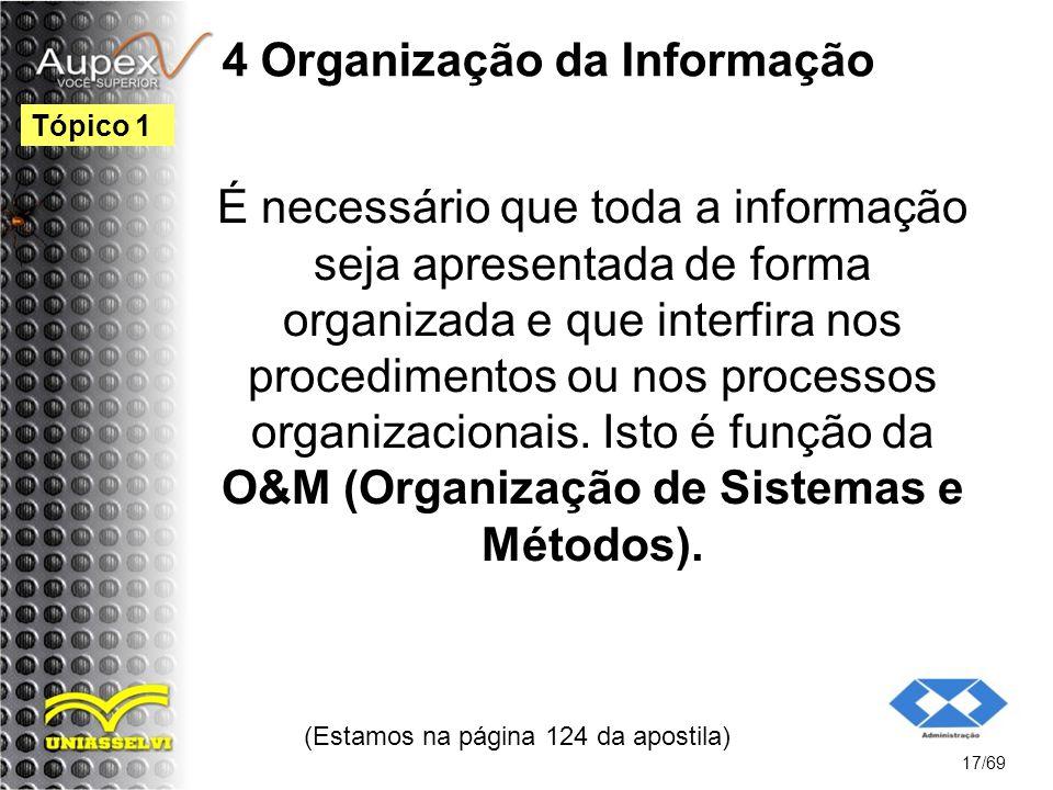 4 Organização da Informação