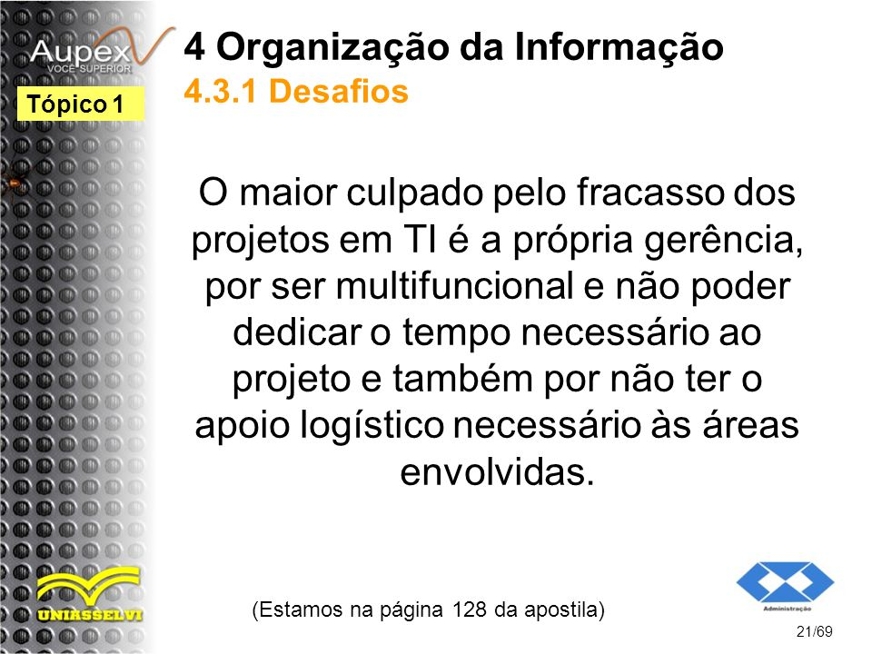 4 Organização da Informação 4.3.1 Desafios