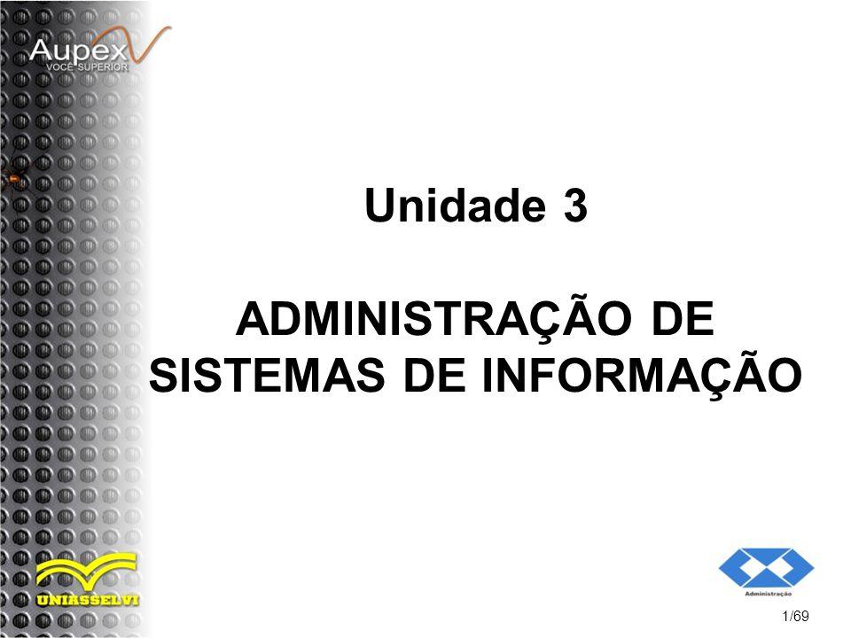 Unidade 3 ADMINISTRAÇÃO DE SISTEMAS DE INFORMAÇÃO