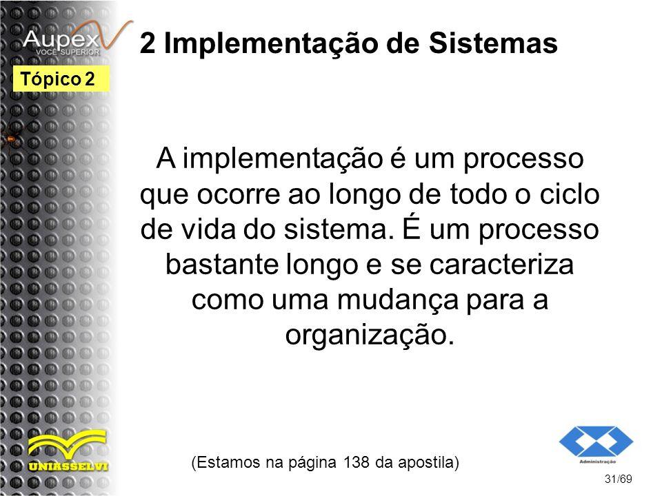 2 Implementação de Sistemas