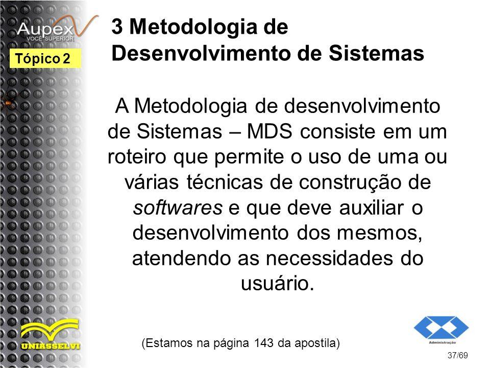 3 Metodologia de Desenvolvimento de Sistemas