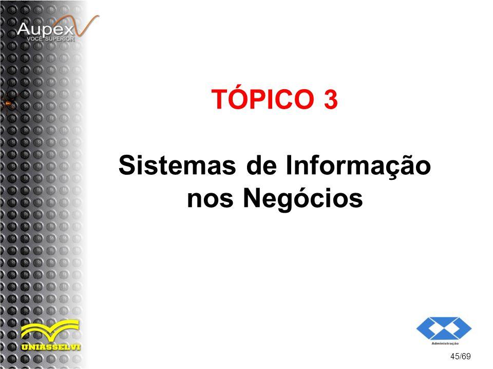 TÓPICO 3 Sistemas de Informação nos Negócios