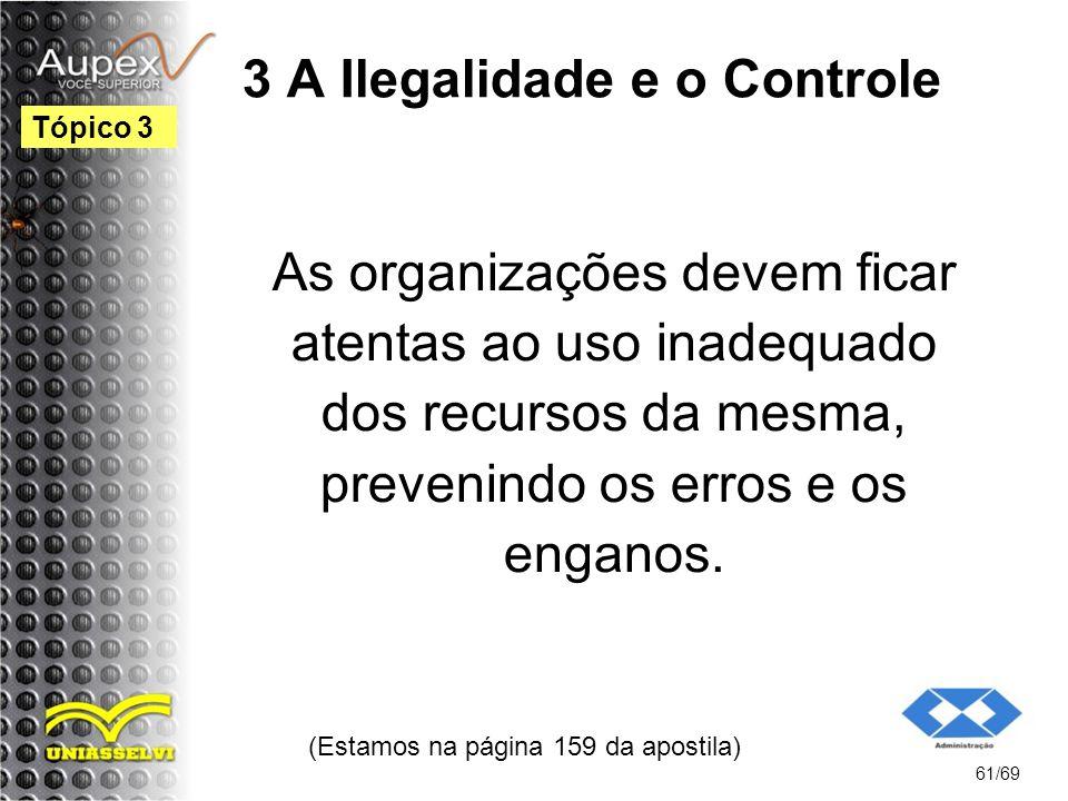 3 A Ilegalidade e o Controle