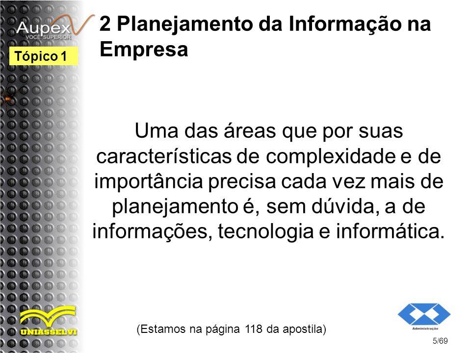 2 Planejamento da Informação na Empresa