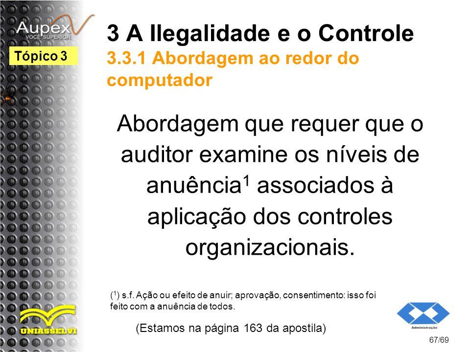 3 A Ilegalidade e o Controle 3.3.1 Abordagem ao redor do computador
