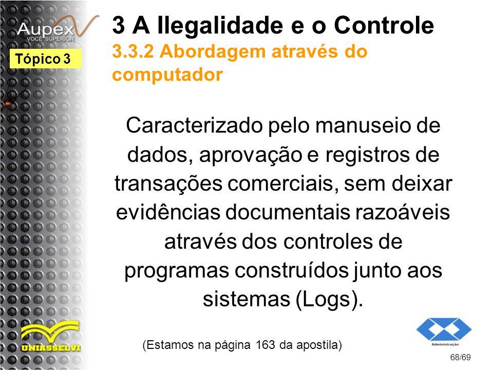 3 A Ilegalidade e o Controle 3.3.2 Abordagem através do computador