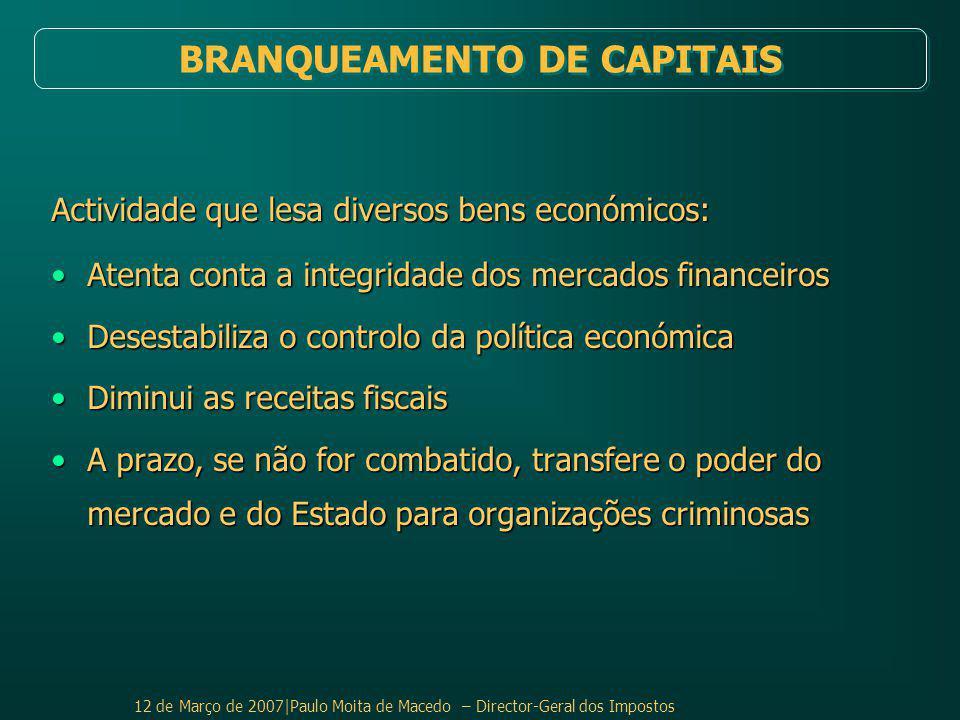 BRANQUEAMENTO DE CAPITAIS
