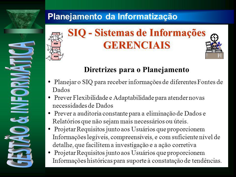 GESTÃO & INFORMÁTICA SIQ - Sistemas de Informações GERENCIAIS