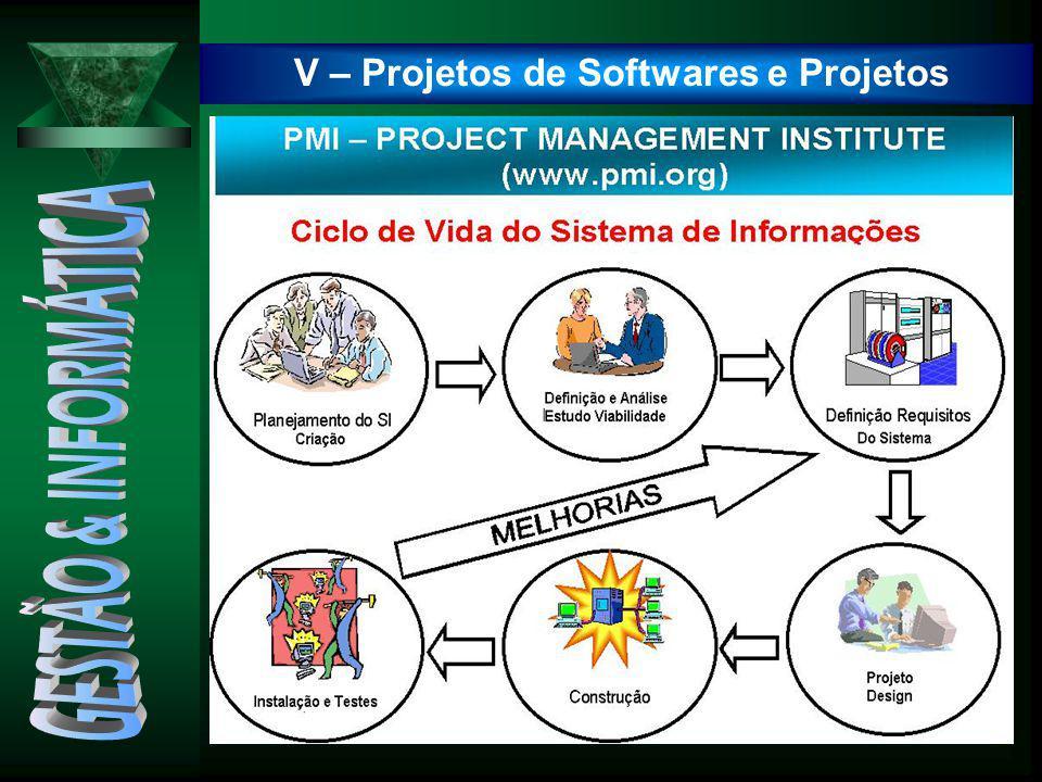 V – Projetos de Softwares e Projetos