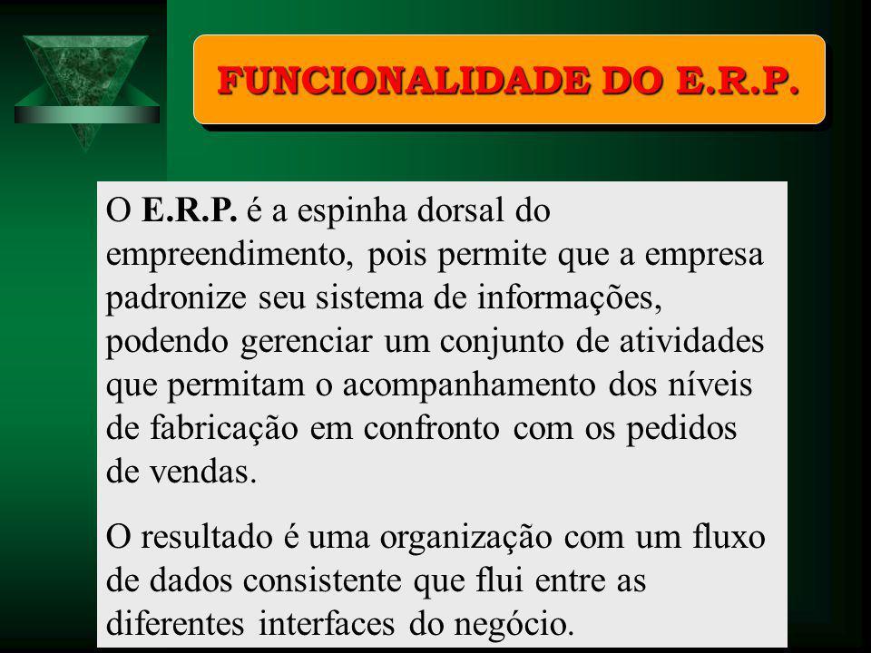 FUNCIONALIDADE DO E.R.P.
