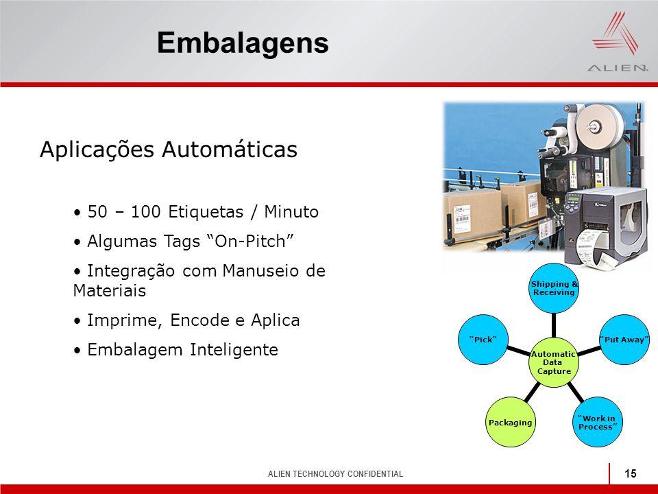 Embalagens Aplicações Automáticas 50 – 100 Etiquetas / Minuto