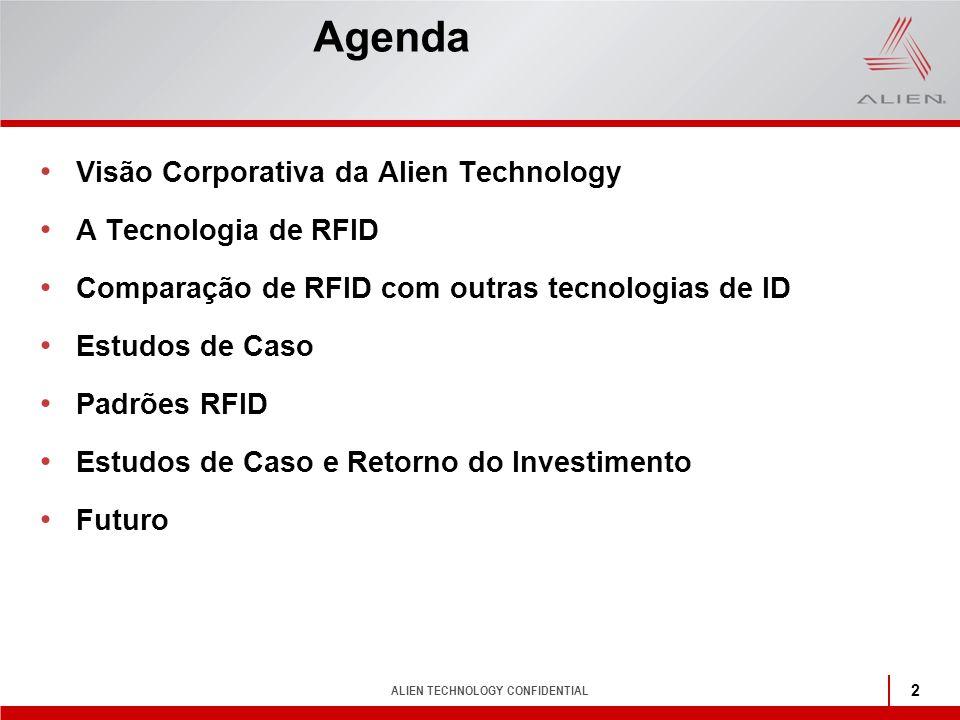 Agenda Visão Corporativa da Alien Technology A Tecnologia de RFID