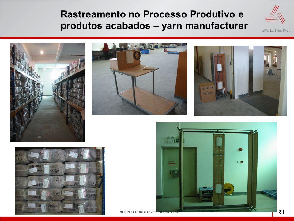 Rastreamento no Processo Produtivo e produtos acabados – yarn manufacturer