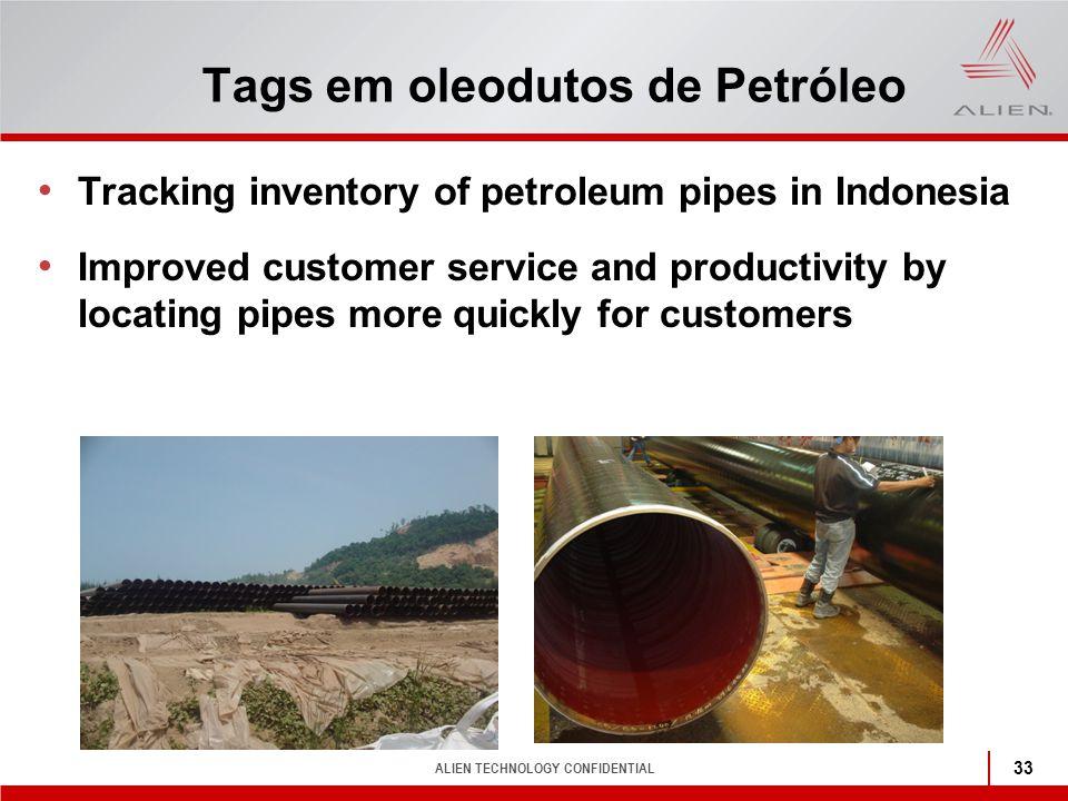 Tags em oleodutos de Petróleo