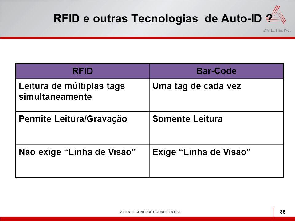 RFID e outras Tecnologias de Auto-ID