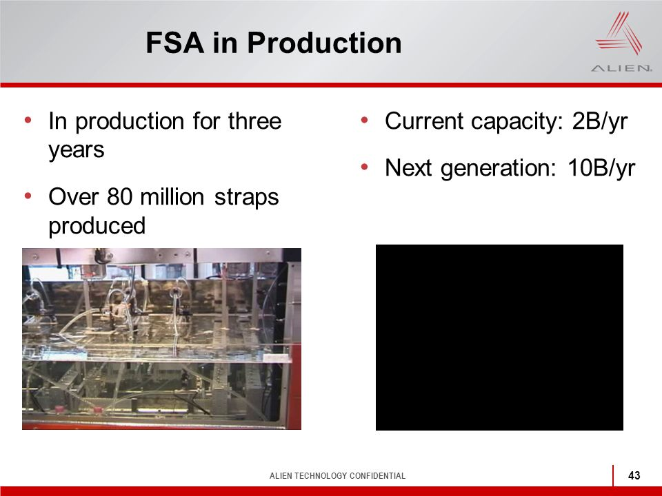 FSA in Production In production for three years