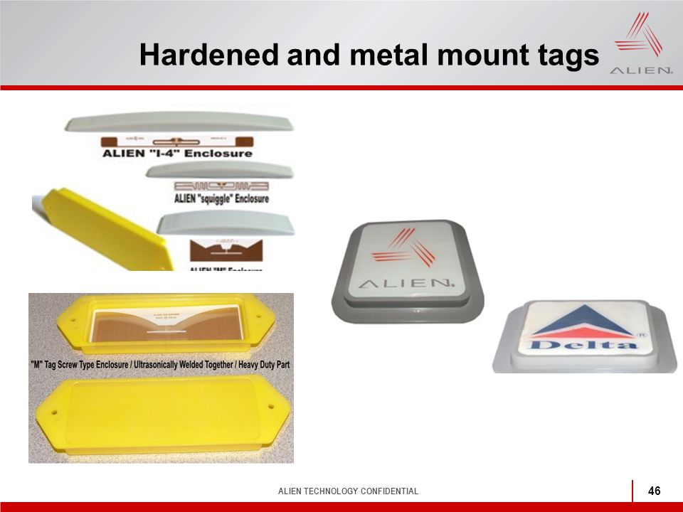 Hardened and metal mount tags