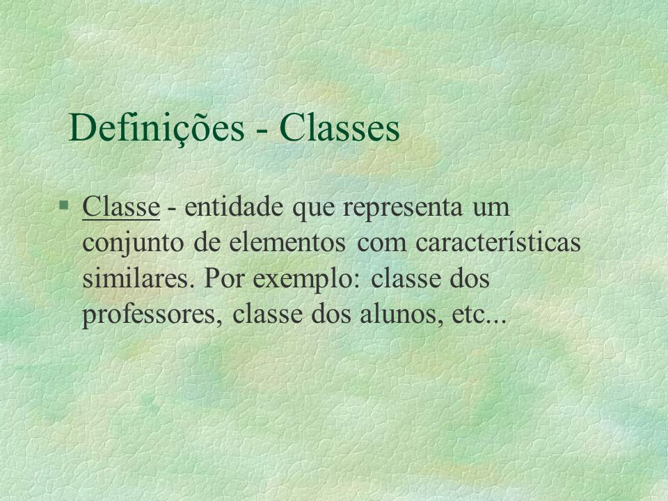 Definições - Classes