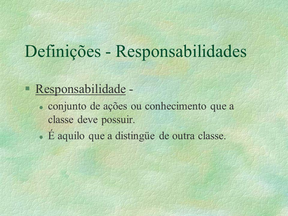 Definições - Responsabilidades
