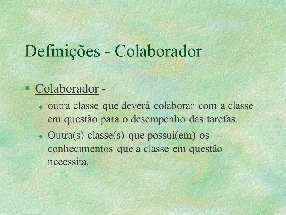 Definições - Colaborador