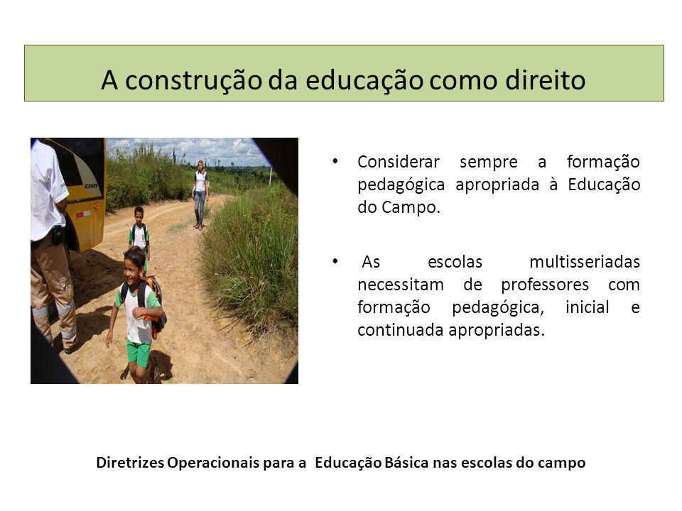 Diretrizes Operacionais para a Educação Básica nas escolas do campo