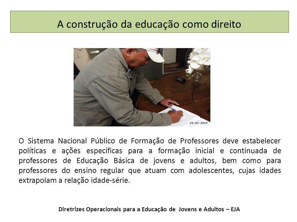 Diretrizes Operacionais para a Educação de Jovens e Adultos – EJA