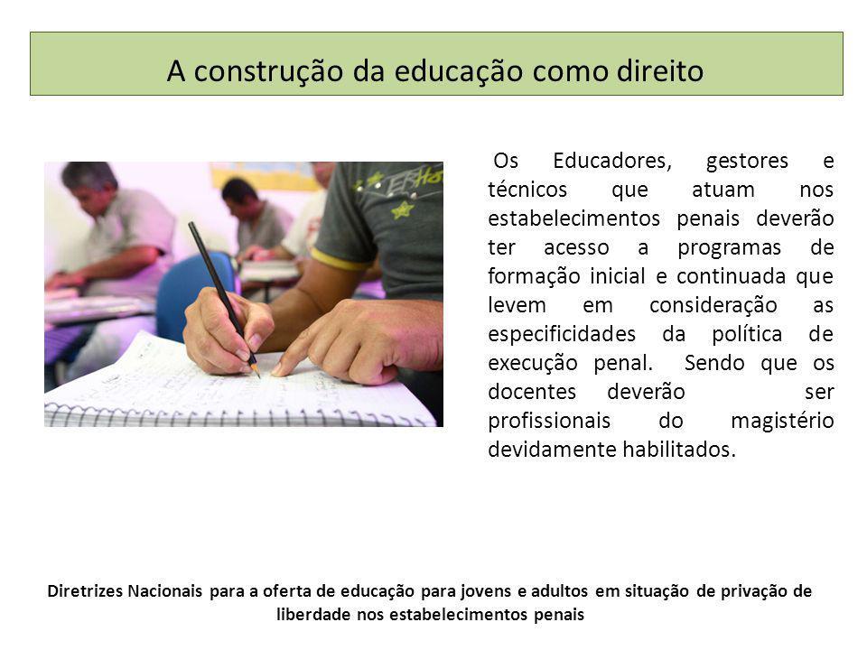 A construção da educação como direito