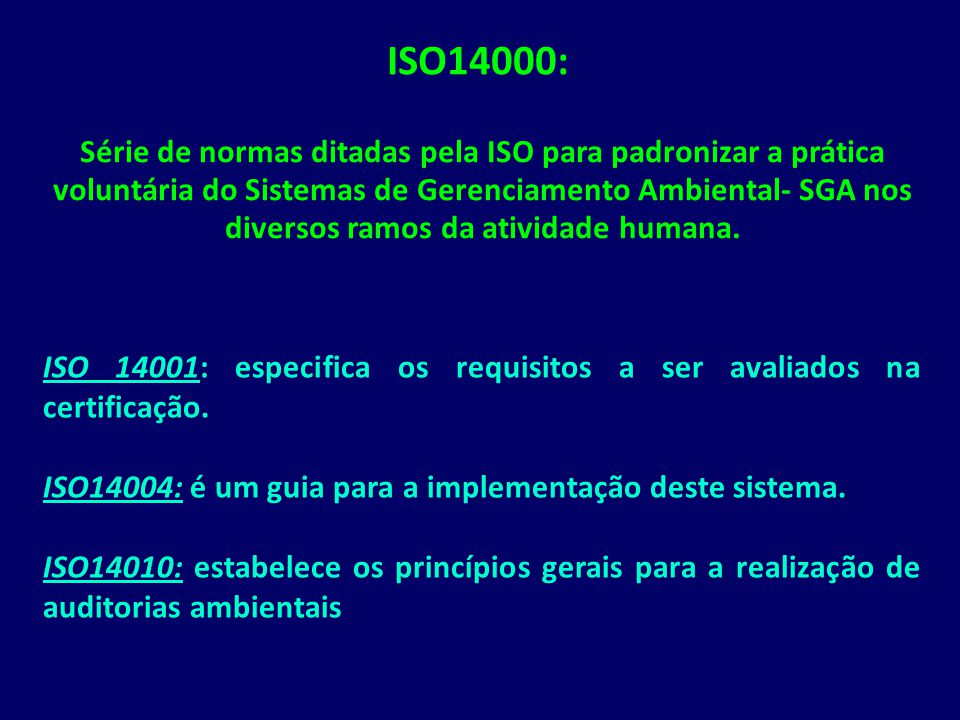 ISO14000: