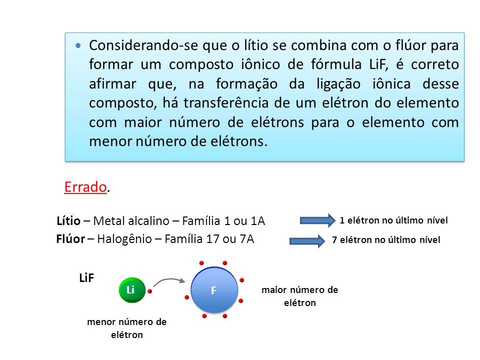 maior número de elétron menor número de elétron