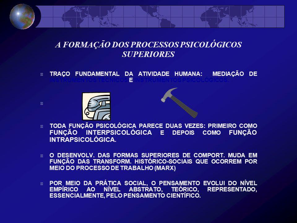 A FORMAÇÃO DOS PROCESSOS PSICOLÓGICOS SUPERIORES