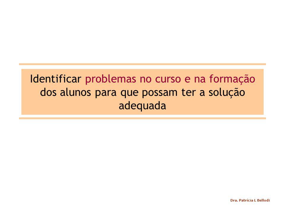 Identificar problemas no curso e na formação dos alunos para que possam ter a solução adequada