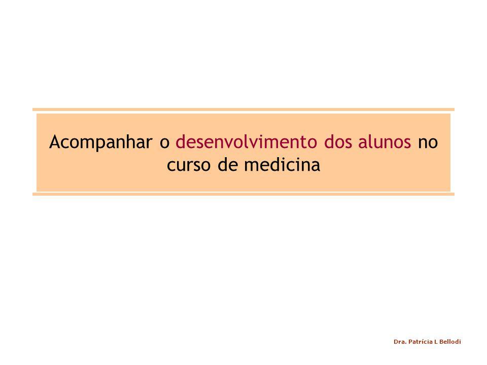 Acompanhar o desenvolvimento dos alunos no curso de medicina