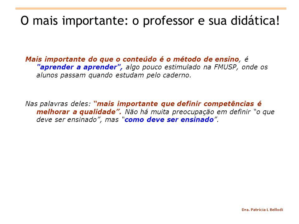 O mais importante: o professor e sua didática!