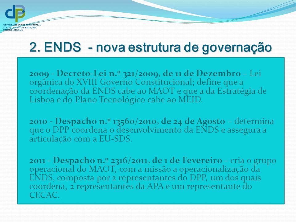 2. ENDS - nova estrutura de governação