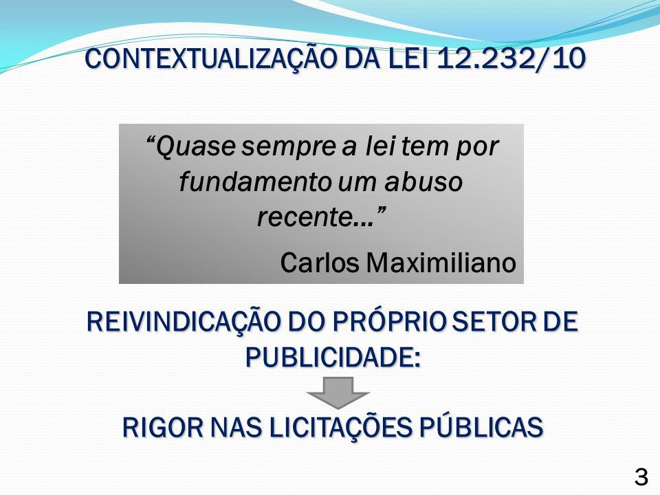 CONTEXTUALIZAÇÃO DA LEI 12.232/10